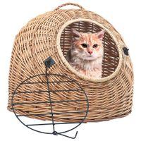 Transporter dla kota, 45x35x35 cm, naturalna wiklina