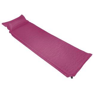 Materac dmuchany z poduszką, 66x200 cm, różowy