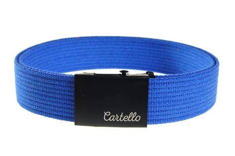 Pasek parciany bawełniany niebieski Cartello PB02 Rozmiar 115cm