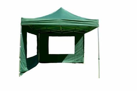 Namiot ogrodowy 3x3 m ekspresowy, zielony pawilon handlowy ze ściankami