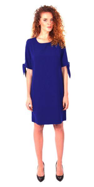Luźna sukienka koktajlowa - chaber Rozmiar - 42 zdjęcie 2