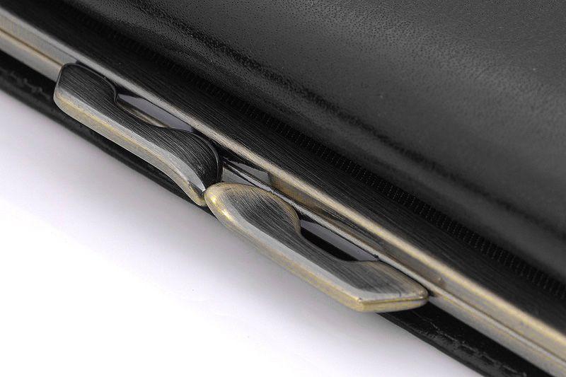 Skórzany portfel damski Orsatti D-02A w kolorze czarnym zdjęcie 3