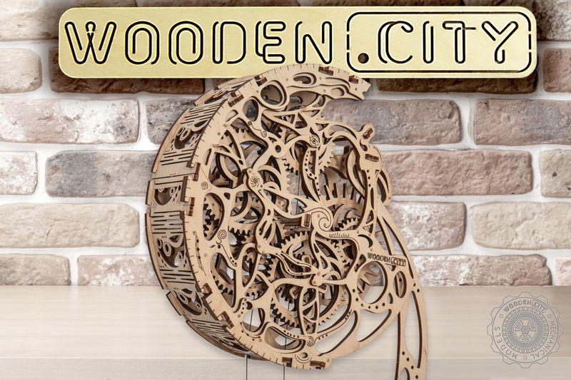 WAHADŁO PENDULUM Mechaniczne Puzzle 3D Drewniane Wooden City zdjęcie 8