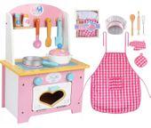 Kuchnia Drewniana Dla Dzieci +Akcesoria +Fartuch U46Z
