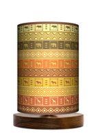 Afrykańskie wzór Lampa stołowa lampka nocna drewniana podstawa
