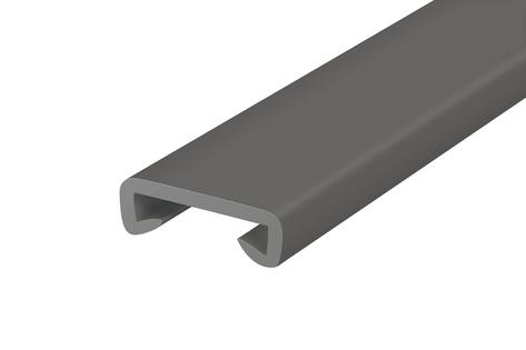 Listwa poręczowa PCV STANDARD, poręczówka 40x8 mm ciemnoszary 1mb