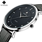 Zegarek męski, Wwoor, biały, czarny, wodoszczelny, elegancki, nowy zdjęcie 4