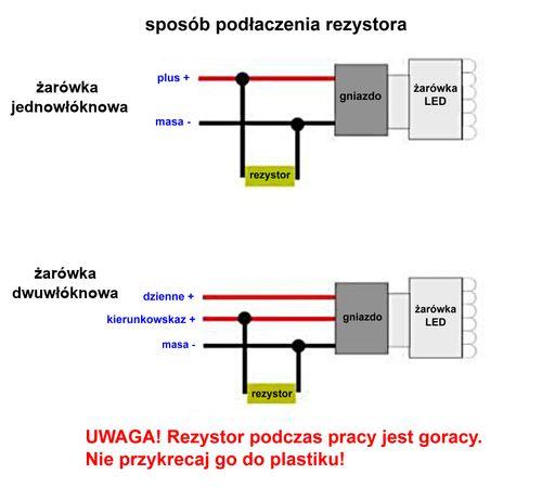 REZYSTOR - DEKODER BŁĘDU CAN 50W 6 OHM 12V na Arena.pl