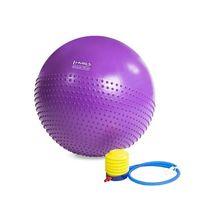 Piłka GYM BALL 55cm masująca fioletowa piłka gimnastyczna fitness max obc 250kg antypoślizgowa ABI