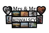 Multirama ramka na zdjęcia z napisem Mrs & Mr Nazwisko