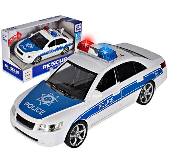 Samochód policyjny Radiowóz interaktywny dźwięki i światła Y260 zdjęcie 1