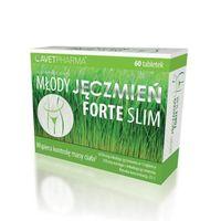 Młody Jęczmień Forte Slim tabl. 60 tabletek  - Długi termin ważności!