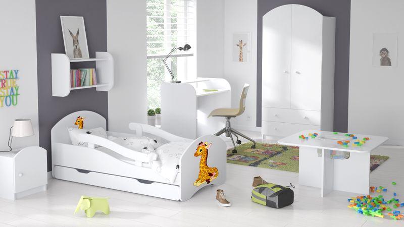 Łóżko dziecięce łóżeczko 140x70 białe szuflada materac dla dziecka zdjęcie 12