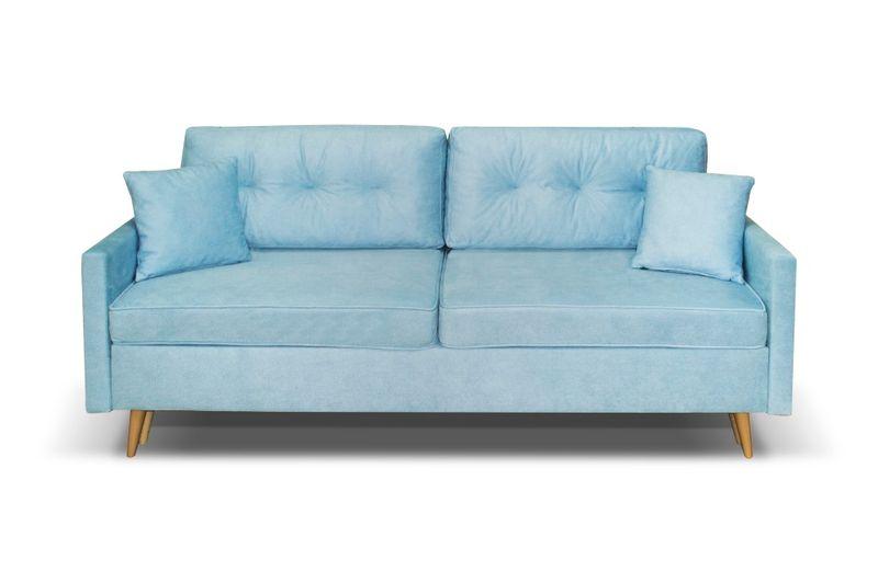 Kanapa Sofa BLUE rozkładana bonell Skandynawska zdjęcie 2