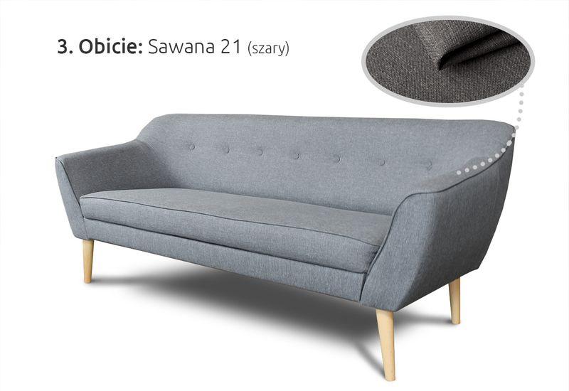 Kanapa 3-osobowa Skandi w stylu skandynawskim - Sofa Wersalka zdjęcie 5