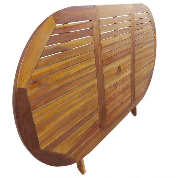 Zestaw mebli ogrodowych, 9-częściowy, drewno akacjowe zdjęcie 3