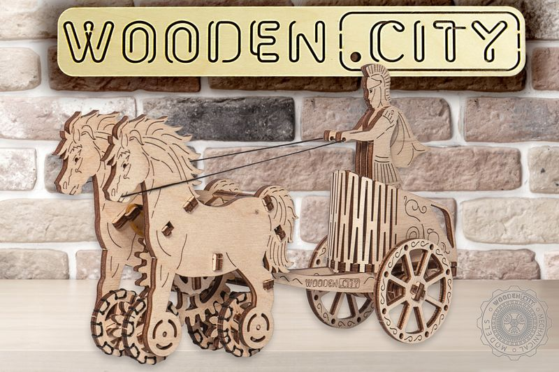 RYDWAN RZYMSKI Mechaniczne Puzzle 3D Wooden City zdjęcie 8