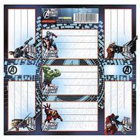 Avengers Naklejki Na Zeszyt 7szt wzór 1
