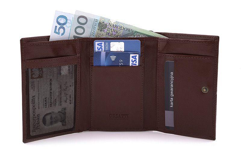 Skórzany portfel damski Orsatti D-02B w kolorze brązowym zdjęcie 6