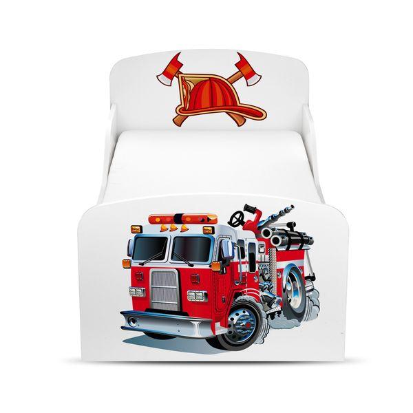 Łóżko dla dzieci 140x70 z materacem i szufladą Strażak 102/248001S zdjęcie 2