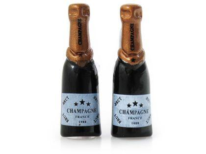 Spinki do mankietów - butelki szampana A209