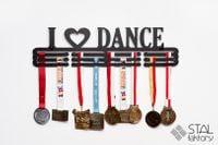 Wieszak na medale | I LOVE DANCE #2 | 60cm | metalowy na 90szt medali