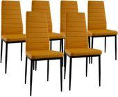 Zestaw 6 krzeseł Dankor Design brand musztardowy