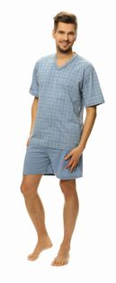 Piżama męska LUNA kod 793 w serek niebieski roz. M