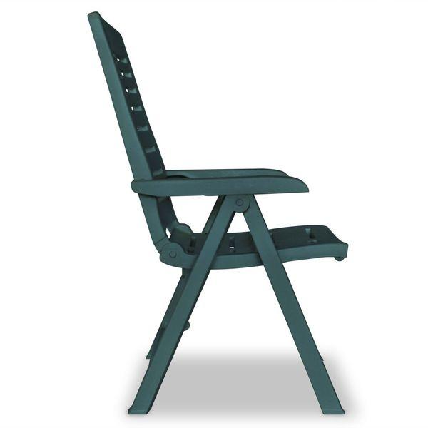 Rozkładane Krzesła Ogrodowe 2 Szt Zielone Plastikowe