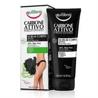 ♥ Equilibra - Oczyszczający peeling do ciała z aktywnym węglem - 200 ml
