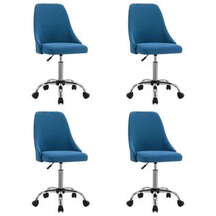 Lumarko Krzesła stołowe, 4 szt., niebieskie, tapicerowane tkaniną