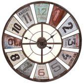Zegar ścienny metalowy duży RETRO LOFT 80 cm