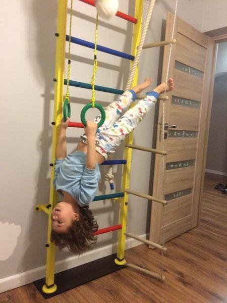 Bardzo dobry Drabinka gimnastyczna dla dzieci Junior-235W biała do ćwiczeń FA41