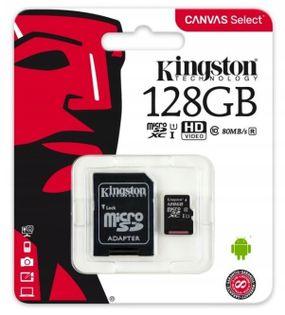 KARTA PAMIĘCI DO SMARTFONA microSD 128GB + ADAPTER