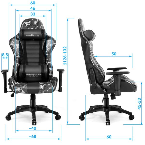 Fields of Battle FOREST CAMOUFLAGE fotel gamingowy Warrior Chairs zdjęcie 6