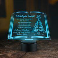 Dekoracja Świąteczna LED NA PREZENT ŚWIĘTA grawer