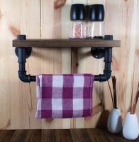 Wieszak uchwyt na ręczniki ścierki z półką