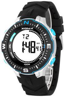 Xonix Zegarek sportowy, wielofunkcyjny, alarm, oznaczenia stron świata, WR 100M, antyalergiczny