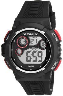 Xonix Uniwersalny zegarek sportowy, multifunkcyjny, podświetlenie, WR 100M, antyalergiczny