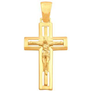 wisiorek krzyż, złoto 585/14k