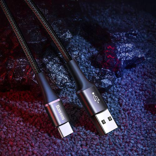 BASEUS DŁUGI PANCERNY KABEL LED USB-C 2A 200CM na Arena.pl