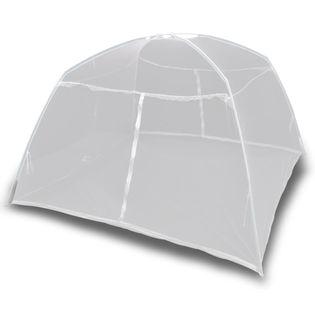Moskitiera namiotowa, 200x180x150 cm, włókno szklane, biała