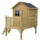 Domek ogrodowy dla dzieci 4IQ Tomek drewniany z tarasem