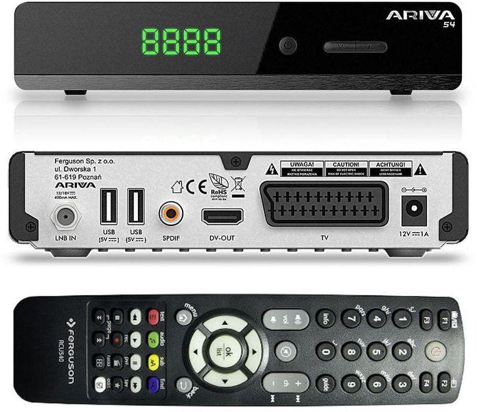 Ferguson Ariva 54 - tuner satelitarny FTA na Arena.pl