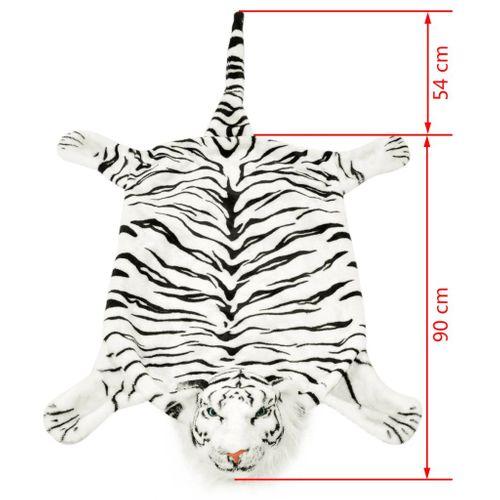 Pluszowy dywanik - tygrys, 144 cm, biały na Arena.pl
