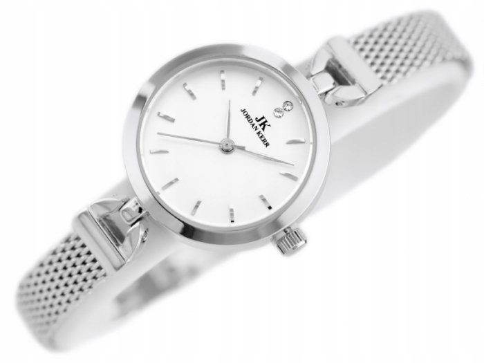 Srebrny zegarek damski bransoleta jordan kerr - pt zdjęcie 8