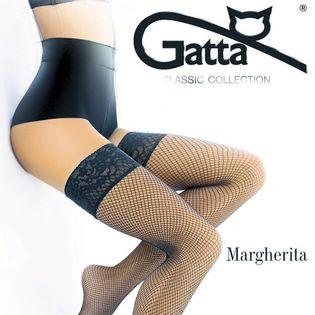 Pończochy Gatta MARGHERITA 01 siateczka Rozmiar - 1/2, Kolor - Coffe