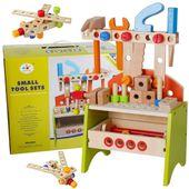 Drewniany Warsztat Dla Dzieci Narzędzia 40 elementów U53