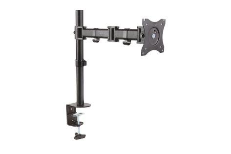 """Stojak biurkowy pojedynczy z zaciskiem DIGITUS, 1xLCD, max. 27"""", max. 8kg, uchylno-obrotowy 360° (PIVOT)"""