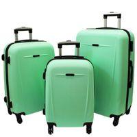 Zestaw 3 walizek PELLUCCI RGL 780 Miętowe